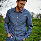 more details on Cherokee Men's Navy Stripe Shirt.