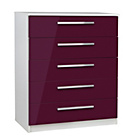 more details on Sparkle 5 Drawer Chest - Plum.