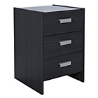 more details on New Capella 3 Drawer Bedside Chest - Black ash effect