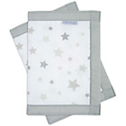 more details on Airwrap Mesh 4 Sided Mesh Cot Bumper - Silver Stars.