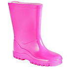 more details on Girls' Basic Pink Welly - Size 7.