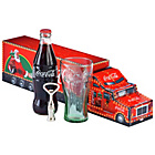 more details on Coca-Cola Bottle, Glass and Opener Set.