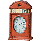 more details on Premier Housewares Red Telephone Box Clock.