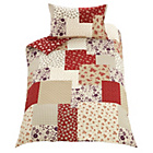 more details on Red Patchwork Bedding Set - Single.