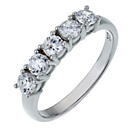 more details on Platinum Plated Sterling Silver CZ Half Eternity Ring.