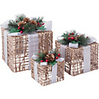 more details on 3 Pack of Wicker Gift Boxes