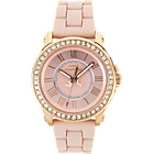 more details on Juicy Couture Ladies' Pedigree Pink Stone Set Strap Watch.