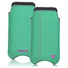 more details on NueVue Canvas Aqua iPhone 4 4s and 5c Case - Green/Purple