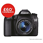 more details on Canon EOS 70D DSLR Camera with 18-135mm Lens - Black.