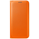 more details on Samsung Galaxy S6 Edge Flip Wallet Cover - Orange