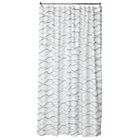 more details on Heart of House Cara Wavy Shower Curtain - Blue.