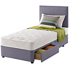 more details on Layezee Calm Micro Quilt Single 2 Drawer Heather Divan Bed.