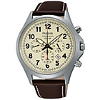 more details on Pulsar Mens Solar Dial Brown Strap Watch.