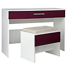 more details on Sparkle 2 Drawer Dressing Table and Stool - Plum.