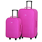 more details on Go Explore 2 Piece Wheeled Luggage Set - Pink.