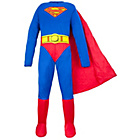 more details on Mens Superman Costume Size L.
