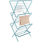 more details on ColourMatch 20m 3 Tier Indoor Clothes Airer - Fiesta Blue.