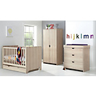 more details on Mamas & Papas Rocco 4 Piece Nursery Furniture Set-Light Oak.