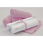 more details on Clair de Lune 4 Piece Bedding Bale to Fit Moses Basket-Pink.