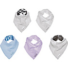 more details on Clair de Lune Unisex Bandanna Bibs Pack of 2.