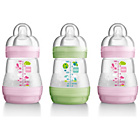 more details on MAM Anti-Colic 160ml Bottle 3 Pack - Pink.