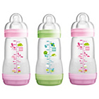 more details on MAM 260ml Anti Colic Bottles 3 Pack - Pink.