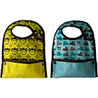 more details on Close Stage 2 Boys' Pack of 2 Animal Print Bibs-Blue/Yellow.