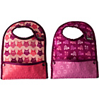 more details on Close Stage 2 Girls' Pack of 2 Animal Print Bibs - Pink.