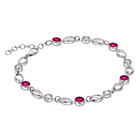 more details on Sterling Silver Rose Colour Clear Stone Bracelet.