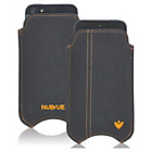 more details on NueVue Cotton Twill iPhone 4 4s and 5c Case - Black/Orange