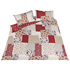 more details on Red Patchwork Bedding Set - Kingsize.