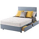 more details on Layezee Calm Micro Quilt Double 4 Drawer Divan Bed.