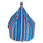 more details on Striped Blue Beanbag.