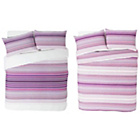 more details on Stripy Pink Twin Pack Bedding Set - Double.