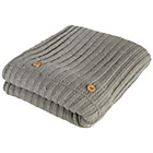 more details on Heart of House Knitted Throw 130 x 180cm - Grey.
