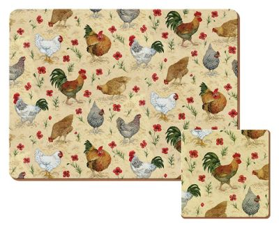 Buy Chicken Pack of 4 Placemats and Coasters at Argosco  : 4009313RSETTMBampwid620amphei620 from www.argos.co.uk size 620 x 620 jpeg 70kB
