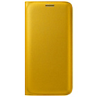 more details on Samsung Galaxy S6 Edge Flip Wallet Cover - Yellow