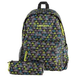 IT Carbrini Backpack and Pencil Case Set - Green