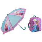 more details on Disney Frozen Backpack and Umbrella - Pink.