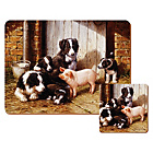 more details on Piggy in the Middle Pack of 6 Placemants and Coasters.