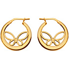 more details on 9ct Bonded Gold Butterfly Hoop Earrings.