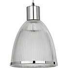 more details on Ribbed Glass Pendant Light - Chrome.