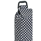 more details on 2 Wheel Polka Dot Shopping Trolley - Navy.