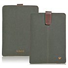 more details on NueVue Cotton Twill iPad Air Case - Green/Orange