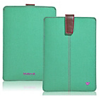 more details on NueVue Canvas Aqua iPad Mini Case - Green/Purple