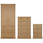 more details on Kensington 3 Piece 2 Door Wardrobe Package - Oak Effect.