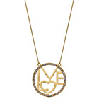 more details on Gold Plated Sterling Silver Crystal Circle of Love Necklet.