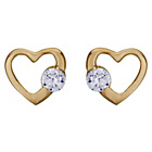 more details on 9ct Gold Cubic Zirconia Open Heart Stud Earrings.