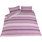 more details on Stripy Pink Twin Pack Bedding Set - Kingsize.