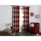 more details on Heart of House Angus Eyelet Curtains 117 x 137cm - Red.